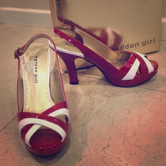 4c420a5bfe223 Madden Girl Shoes | Steven Madden Rockabilly Peep Toe Pumps 6 | Poshmark